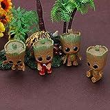 4 STÜCKE Mini Groot Puppe Keychain Spielzeug für Kinder Wächter Galaxy Baby Treeman Keychain...