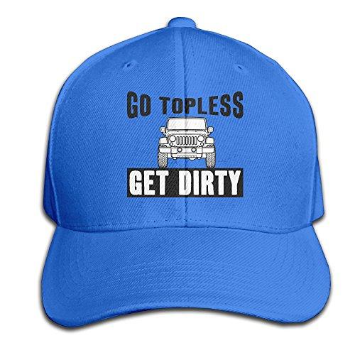 para Hombre Go en la Parte Superior Get Dirty Ajustable béisbol Sombreros