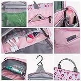 Mountaintop Kulturbeutel Kosmetiktasche Kulturtasche zum Aufhängen Toiletry Bag Waschtasche für Reise Urlaub, 24 x 9 x 19 cm (B – Pale Pink (L)) - 6