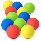 Pllieay 12 Pieces 2.4 Inch Soft Foam Balls Lightweight Mini Indoor Toys Play Balls for Safe Fun, Bright Colors, Birthday for Boys and Girls