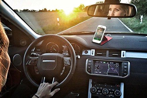 reboon Hülle für Huawei Ascend W1 Tasche Cover Case Bumper | Schwarz Leder | Testsieger - 5
