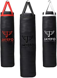 Jayefo Sports Punching Bag Heavy Hanging Boxing Bags for Muay Thai MMA Kickboxing Home Gym Training Fitness Workout for Ha...