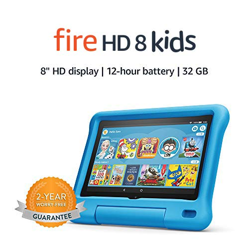 Fire HD 8 Kids tablet, 8' HD display, 32 GB, Blue Kid-Proof Case