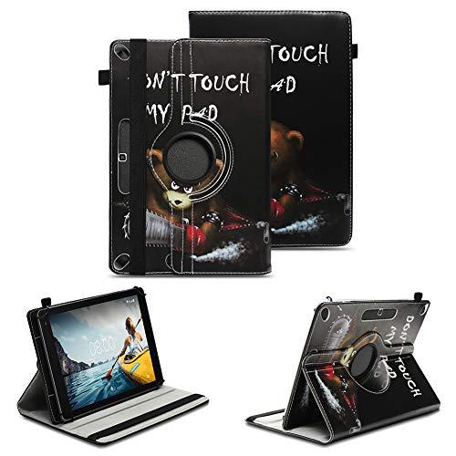 NAUC Tablet Schutzhülle kompatibel für Medion Lifetab X10311 P9702 X10302 P10400 Tasche Universal Hülle Kunstleder Standfunktion 360 Drehbar, Farben:Motiv 9