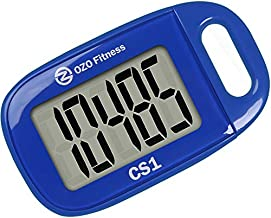 CS1 Easy Pedometer for Walking   Step Tracker with Large Display and Lanyard (Blue)