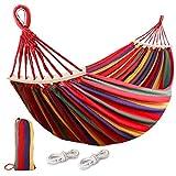 Rayisin Hamaca para exteriores con barra de cintura, capacidad de carga de 250 kg, transpirable, secado rápido, hamaca de lona con bolsa de transporte para terraza, patio, jardín