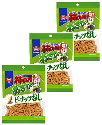 亀田製菓亀田の柿の種わさび100%115g×3袋