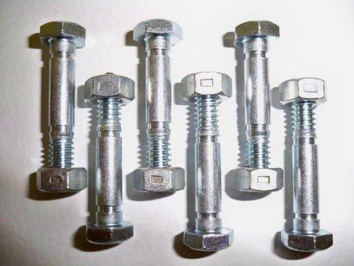 Lot de 6 goupilles et écrous de Cisaillement, remplace Ariens 532005, 53200500, modèle 532005, Home & Garden Store