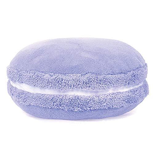 Mood Milano - Cuscino imbottito a forma di macaron colorato e morbido al tatto per divano, letto o auto (lilla)