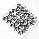 MKU-Beauty 5D Dramatic Faux Mink Eyelahes Full Fluffy 25mm Thick Band Volume Lashes for Makeup 5 Pairs Pack