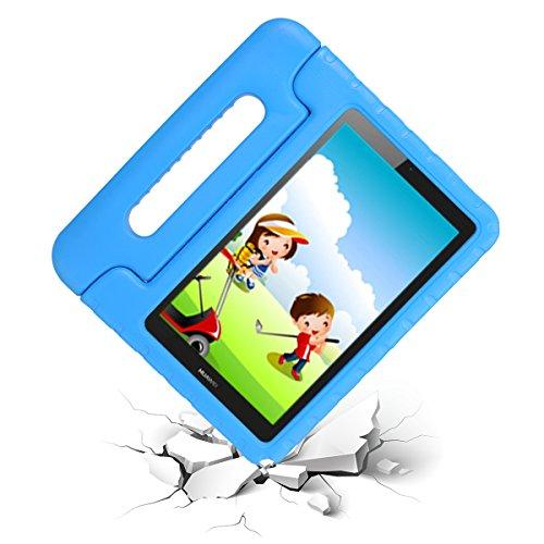 cradle HR Funda Protectora para Huawei MediaPad T3 8 de 8 Pulgadas y Huawei Honor Play Pad 2 de 8 Pulgadas,  Funda Protectora Ligera de EVA a Prueba de Golpes con Soporte (Azul)