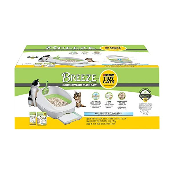Purina Tidy Cats Litter Box System, Breeze System Starter Kit Litter Box, Litter...
