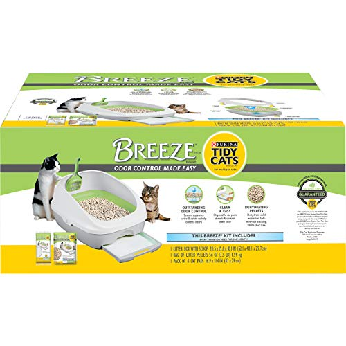 Purina Tidy Cats Litter Box System, BREEZE System Starter Kit Litter Box, Litter...