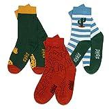 Sigikid Jungen Baby Kinder 3er Pack Socken-Set aus Bio-Baumwolle, Weiß/Rot/Blau, 25-27