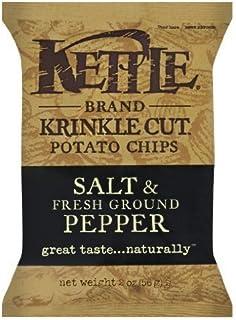 Kettle Krinkle Cut Salt and Fresh Ground Pepper Potato Chips - 2 oz. bag, 24 per case