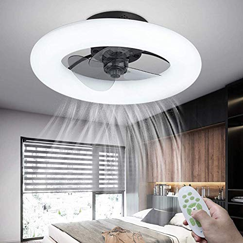 SETSCZY Ventilador De Techo LED con Iluminación Ventilador De Techo Invisible Ultra Silencioso Ventilador De Techo Moderno Luces Velocidad del Viento Y Temperatura De Color Ajustables