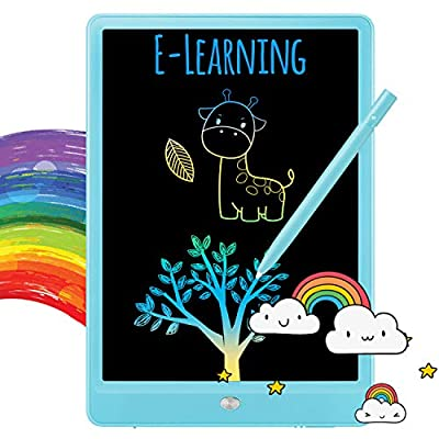 TEKFUN LCD Writing Tablet Doodle Board, 10inch Colorful Drawing Tablet Writing Pad, Girls Gifts Toys for 3 4 5 6 7 Year Old Girls Boys (Blue) from TEKFUN