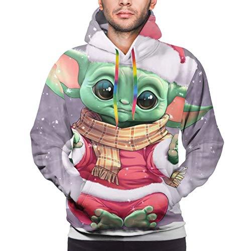 Star Wars Yoda Weihnachten Herren Hoodie mit Fronttasche Sweatshirts 3D Druck...