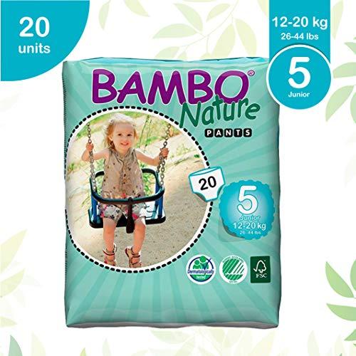 Bambo Nature Junior Größe 5 (12–20 kg) – WC-Training Pull Up-Hose – 20 Stück pro Packung