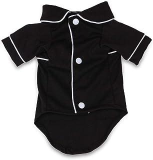 Fablcrew Ropa para Cachorros Perros Pequeños Pijamas para Mascotas Negra Talla XS.
