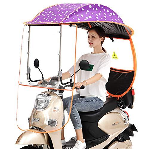 YLKCU Fundas para Motos Coche eléctrico Universal Bicicleta Sombrilla Refugio Cubierta para la Lluvia, Moto Scooter Paraguas Movilidad Sombrilla, Parabrisas de PVC Transparente Impermeable, G