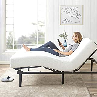 Zinus Jared 14 Inch Metal Adjustable Bed Frame Base / Mattress Foundation with Remote / Head and Foot Incline / Ergonomic Positioning for Better Health and Relaxation / Easy ToolFree Assembly, Twin XL (B07WL1QRNN) | Amazon price tracker / tracking, Amazon price history charts, Amazon price watches, Amazon price drop alerts