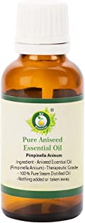 R V Essential Pure Aniseed Essential Oil 100ml (3.38oz)- Pimpinella Anisum (100% Pure and Natural Steam Distilled)