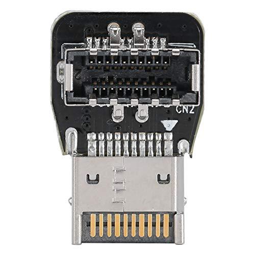 Cabecera del Panel Frontal, Adaptador de extensión Hembra, Placa Base de PC, Interfaz Type-E de 90 Grados, Compatible con USB3.1 10G, USB3.2 20G de Velocidad Completa
