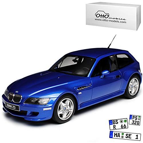 B-M-W Z3 E36 E37 M Coupe 3.2 Estoril Blau 1995-2002 Nr 318 1/18 Otto Mobile Modell Auto