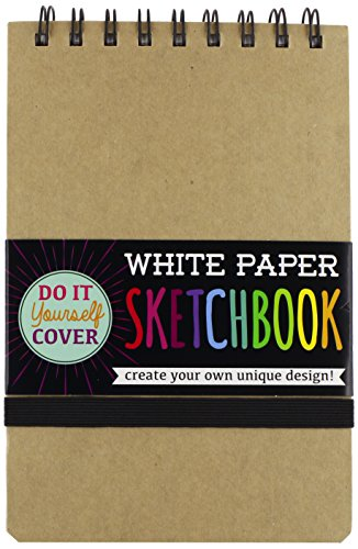 OOLY, DIY White Paper Sketch Book, 5 by 7.5 Inches (118-101)