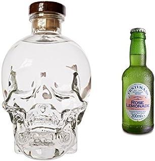 Crystal Head Wodka 1 x 0.7 l mit Fentimans Rose Lemonade, 12er Pack 12 x 200 ml