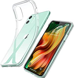 Youmixx Kompatibel mit iPhone 11 hülle, Transparent Dünn Anti Gelb [1,5 Meter Anti Drop] Stoßfest mit Stealth Airbag, Anti Scratch Schutzhülle, Flexible Klar Silikon Handyhülle für iPhone 11
