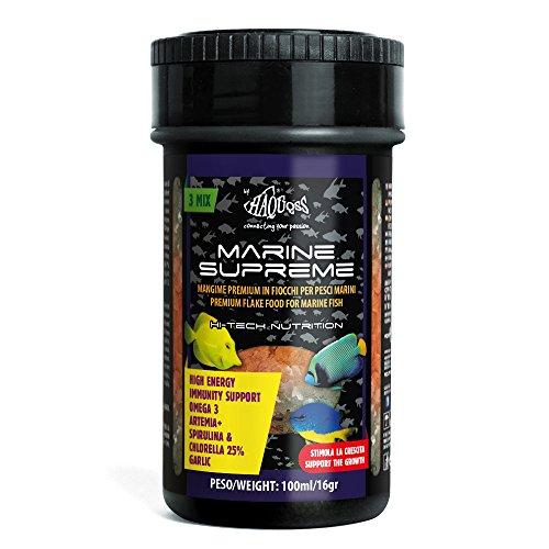 Haquoss Marine Supreme - Alimento en Escamas para Peces Marinos Tropicales, 100 ml/16 g
