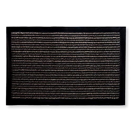 KOKO DOORMATS alfombra entrada casa interior para recibidor o pasillo | felpudos entrada casa originales, alfombra limpia zapatos apto para uso en exterior o interior, antideslizante (Beige, 40x60 cm)