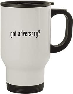 got adversary? - Stainless Steel 14oz Travel Mug, White