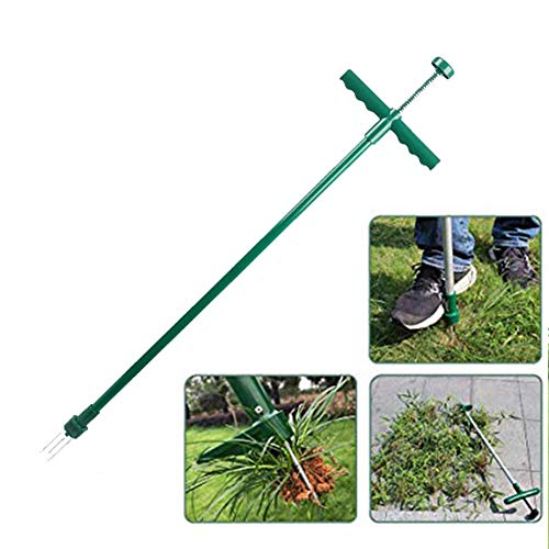 Fantastic Deal! Stand Up Weeder, Weed Puller Stand Up Manual Weeder Hand Tool with 3 Claws Stainless...