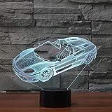 Modelado de coches deportivos NightLight ized Led Lámpara de mesa de noche europea Regalo de Navidad Juguetes para niños Lámpara de escritorio