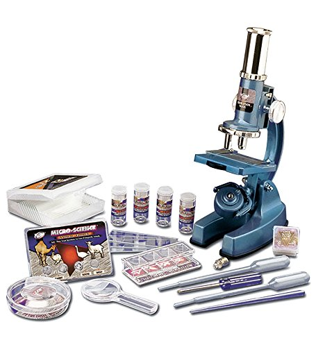 62 Piece Student Beginner Microscope Set with Carrying Case, STEM Learning Science Set