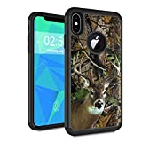 iPhone Xs Case, iPhone X Case,Spsun Dual Layer Hybrid Hard Protector Cover Anti-Drop TPU Bumper for Apple iPhone X 2017/ iPhone Xs 2018 5.8 Inch,Deer Hunting Camo