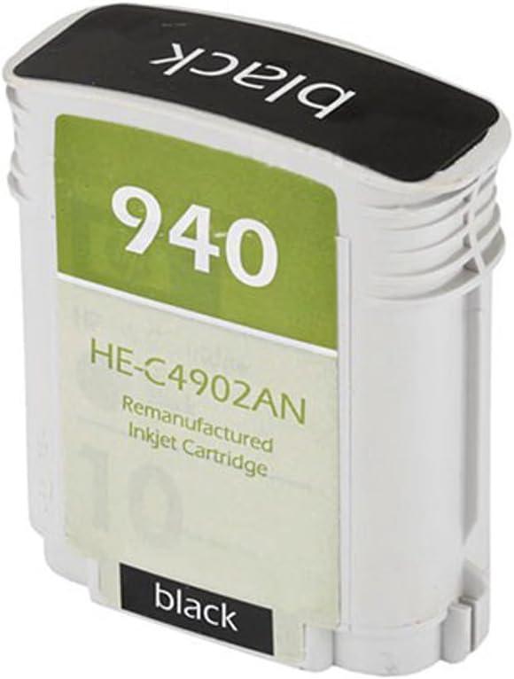 Monoprice 108914 MPI Remanufactured HP C4906AN (HP 940XLBK) High Yield Inkjet - Black