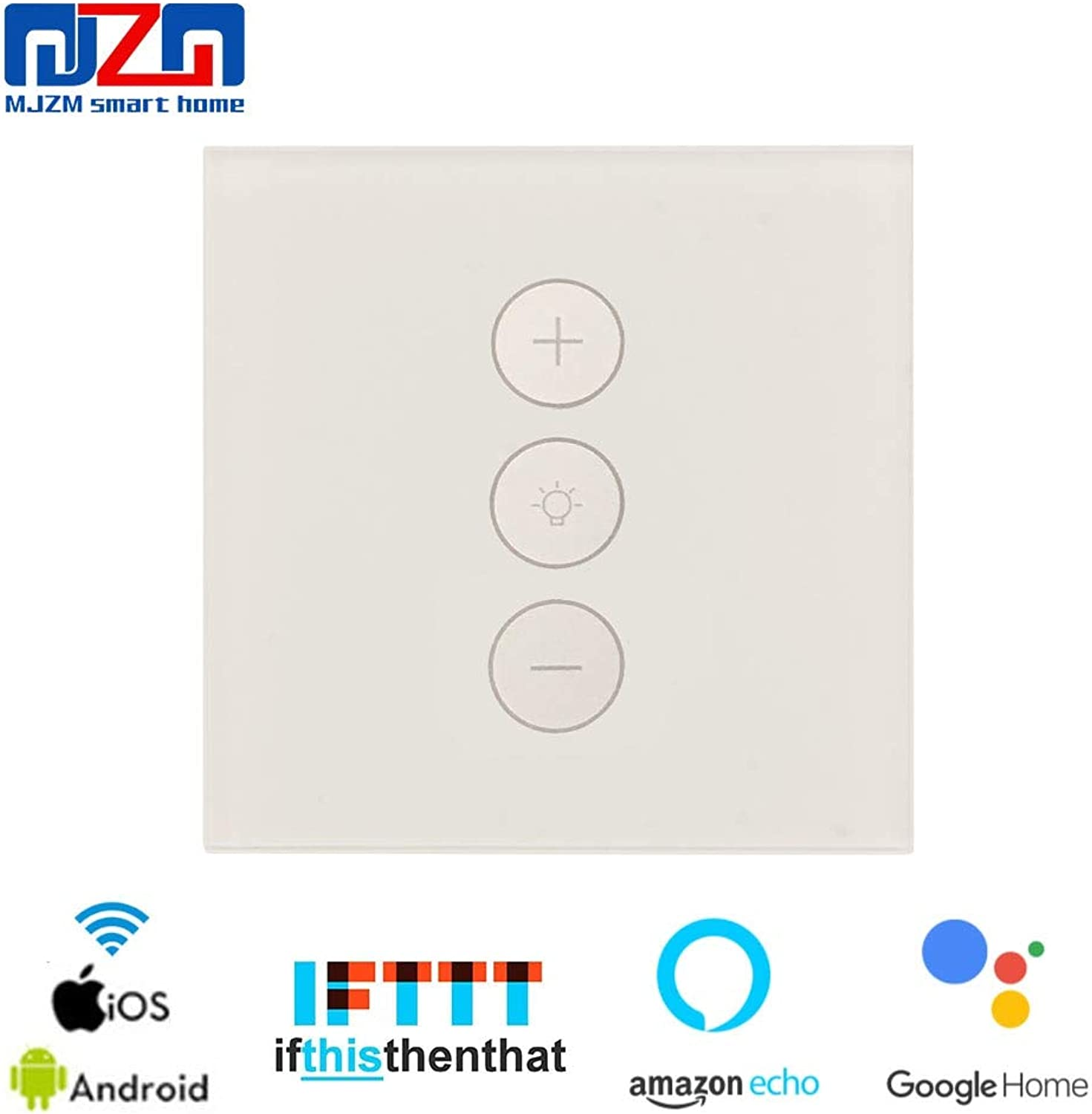 Led Dimmer 220V 110V Smart WiFi Dimmer Switch Touch Light Switch Work with Amazon Alexa Google Assistant EU Switch