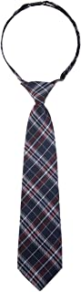Retreez Stylish Plaid Checkered Woven Microfiber Pre-tied Boy's Tie