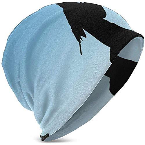 Kids Soft SlouchyBeanie Baggy Skull Hat, laat je silhouet techniek van de karaat, unisex teeen verschillende gebreide muts stijlen