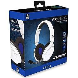 Ultra-lightweight, adjustable Headset Designed for the PlayStation 4 Premium 40mm Speaker Drivers Plush Foam Padded Headband Ergonomically Designed Ear Cups