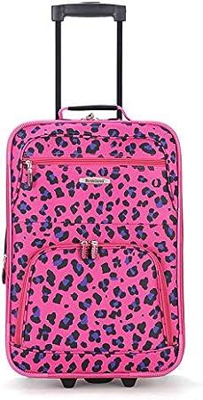 2-Piece Rockland Fashion Softside Upright Luggage Set 14//19 Turquoise
