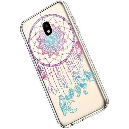 Ukayfe Compatible con Samsung Galaxy J5 2017 Custodia Silicone Trasparente con Disegni Ultra Sottile Morbida Silicone Gel Clear TPU Fiore di Mandala Motivo Case Cover - Mandala#4