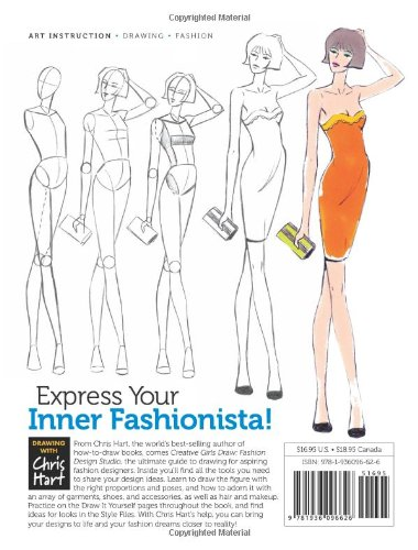 Fashion Design Studio: Learn to Draw Figures, Fashion, Hairstyles & More (Creative Girls Draw)