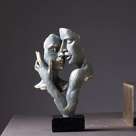 ZZXXBB Statue De Caractère Statues pour La Décoration à La Maison Mur Décoration, Style Nordique Moderne Simple Créatif Art Abstrait De Visage-a 7x4x13inch