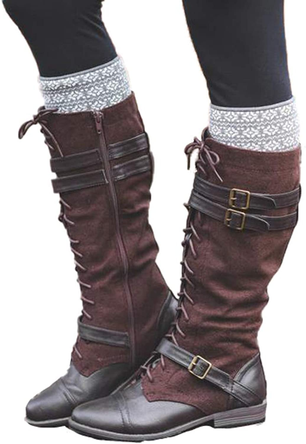 Female Over The Knee Boots Lace Up Sexy Hoof Heels Winter Women shoes Winter Warm Women Thigh High Boots
