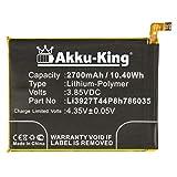 Akku-King Akku kompatibel mit ZTE Li3927T44P8h786035 - Li-Polymer 2700mAh - für ZTE Blade V8, BV0800